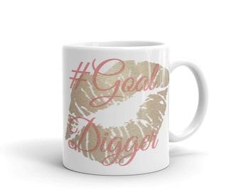 Goal Digger Kiss Mug made in the USA