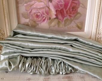 Chandelier Or Cord Cover - Laurel Shimmer Mist Green - Crystal Chandeliers - Paris Apt