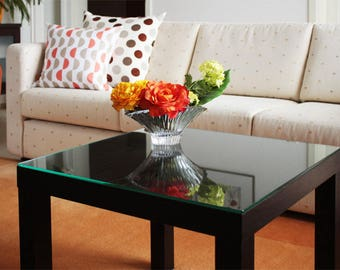 Table top for Ikea LackTisch sturdy tabletop plate made of safety glass (6 mm ESG-glass) of different sizes