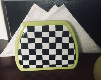 Quirky hand painted napkin/ letter holder