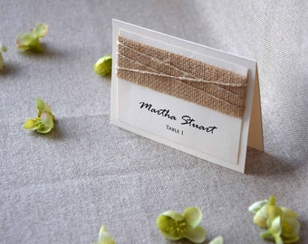 Burlap Wedding Place Cards Name Place Cards Holders for Weddings Burlap Place Cards