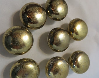 Eight Quality Solid Brass Knobs Vintage 80's Japanese Made