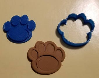 Penn State Pawprint Cookie Cutter with Detail Impression Disc/Fondant/Candy/Soap Cutter