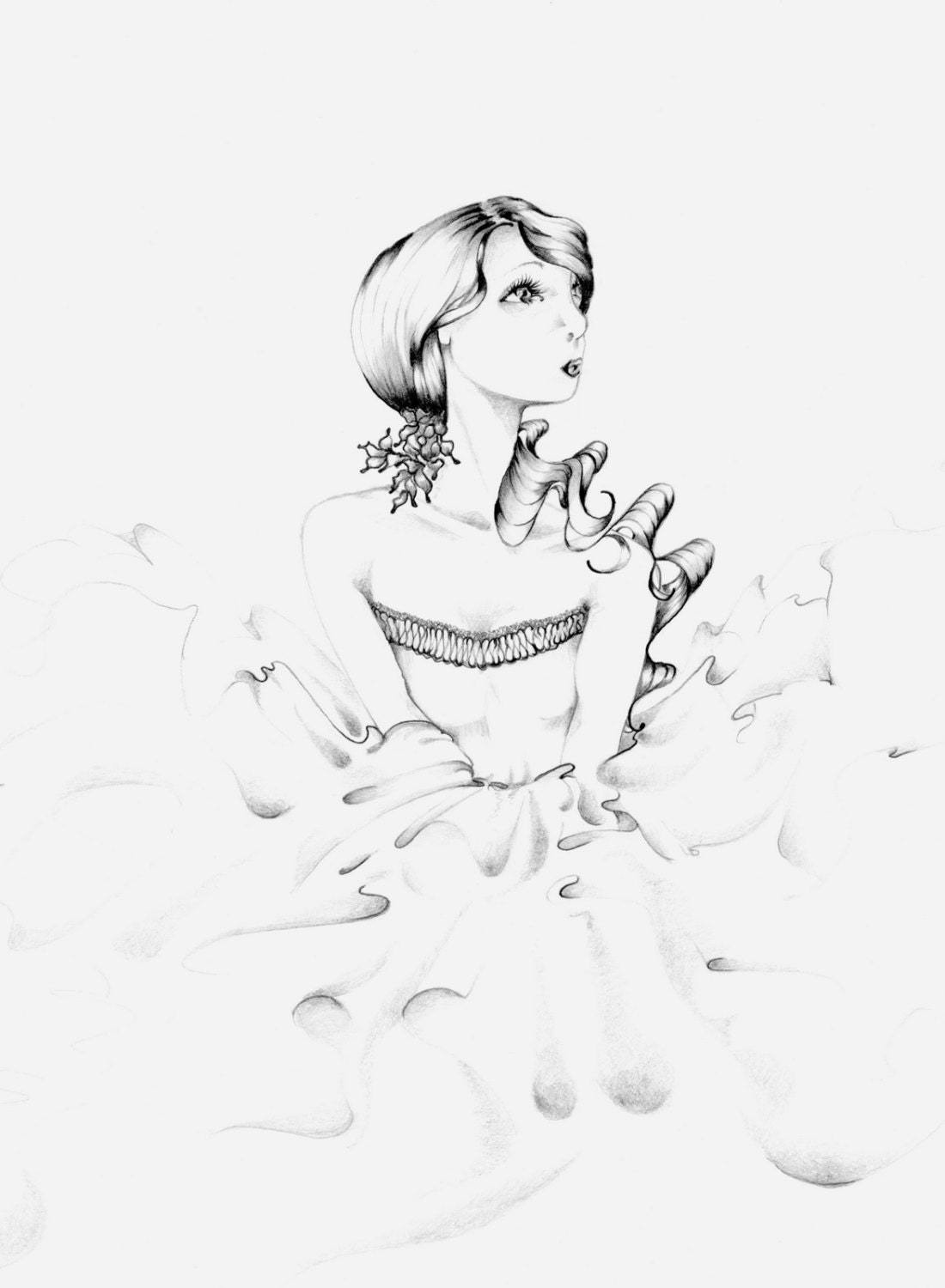 Giclee Print of my Original Fashion Illustration Fine Art