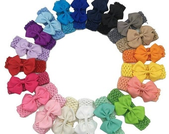 20pc crochet bow headbands bundle, headband bundle,baby headbands,baby headband, newborn headbands, bow headbands, headband set, baby shower