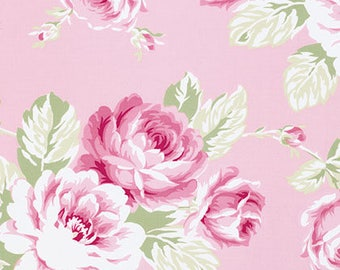 Sunshine Roses In Full Bloom Rose in pink Tanya Whelan free spirit fabrics