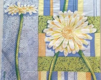 10 napkins - Daisy on bottom BAYADERE REF.   3252