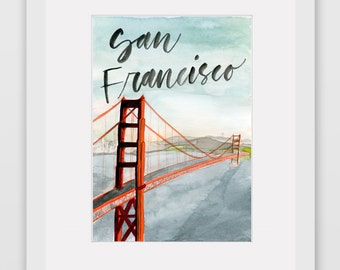 Around the World Watercolor Prints - San Francisco