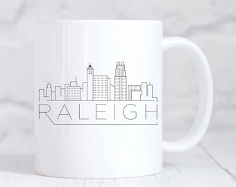 North carolina mug etsy raleigh city skyline mug housewarming mug new home mug my home city negle Image collections