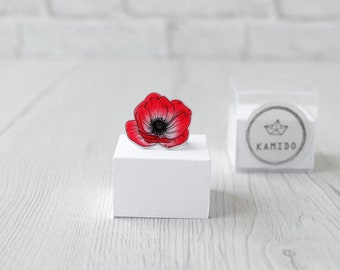 Red Anemone Ring