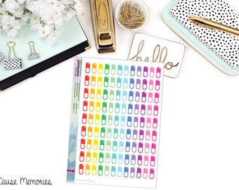 FUNCTIONAL MEDICATION / PILLS Paper Planner Stickers - Mini Binder Sized/3 Hole Punched