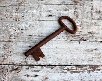 Antique Key, Vintage Key, Skeleton Key, Key Collectible, Iron vintage key, Large Key, Old Key, Rustic Decor, Rustic Key, Home Decor, Decor