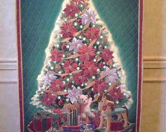Christmas Wall Hanging Quilted Christmas Tree Wall Hanging Rocking Horse Gifts Teddy Bear Wall Hanging Xmas Wall Hanging Embroidered Hanging