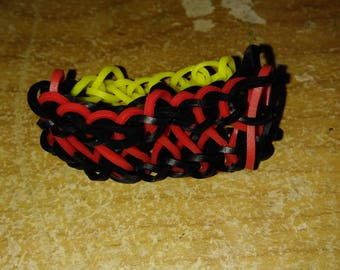 Black and Red Infinity Bracelet