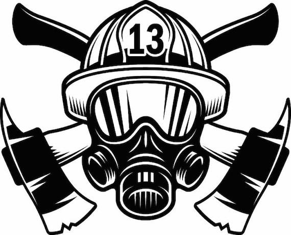 Favorite Firefighter Logo 1 Firefighting Rescue Helmet Mask Axes OW68