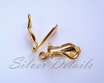 High Quality Comfortable Clip On Earring Finding Vermeil clip-on earring findings reference code C7Y