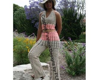 "Crochet PDF Pattern ""Sizzlin Summer Pants Suit"""