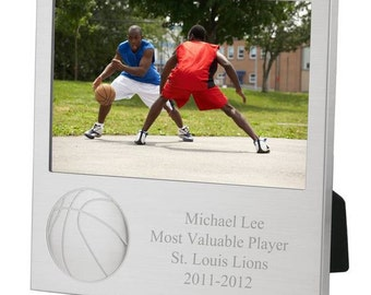 Engraved Basketball Photo Frame