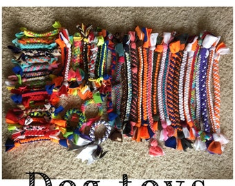 Pack of Braided Dog Toys (3 or 6 Small, 2 or 4 Large)