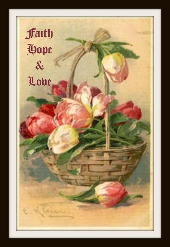 Catherine Klein Faith Hope and Love Wall Decor