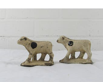 Vintage plastic farm animals cows made in USA