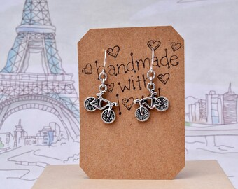 Bicycle Earrings, Cyclist Earrings, Bike Earrings, Bicycle Jewelry, Cyclist Gift, Sports Earrings, Olympics, Team GB
