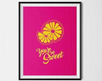 Affiche colorée CITRON so Sweet