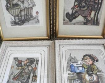 4 Framed Hummel Prints