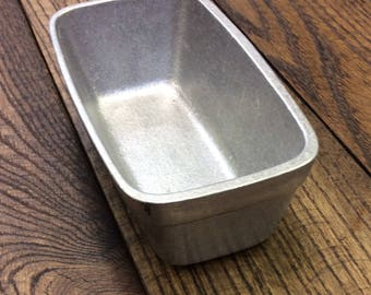 Cast alumimum mini loaf pan. Made in USA
