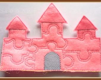 Pink Felt Castle Puzzle
