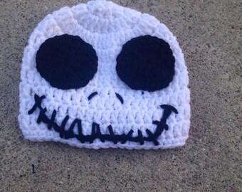 Crochet skeleton hat - crochet skeleton - crochet halloween hat - halloween hat - fall hat - crochet fall hat - crochet spooky hat - kid hat