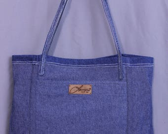 Upcycling Jeans Tasche, Reversible