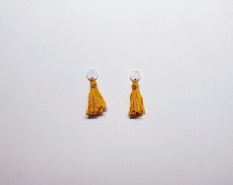 Borla Earrings in Mustard