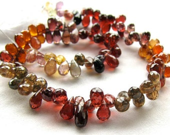 AAA Tundra Sapphire Tear Drop Faceted , AAA Tundra Sapphire Drops beads , 10 inch strand 80 beads Good Product in low Price