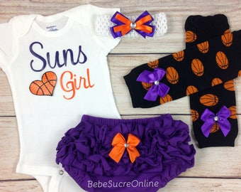 Suns Girl, Baby Basketball Outfit, Cheerleader Game Day Outfit
