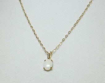 Ensemble de collier pendentif opale australienne dans 8x6mm pendentif en plaqué or 14 carats