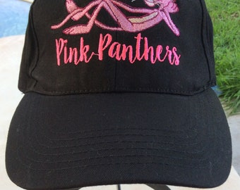 PINK PANTHERS Baseball Hat, machine embroidered
