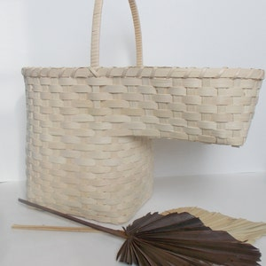 Woven Stair Step Basket