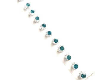 Blue Spiral Twist Hair Pins Clips Wedding Jewelry Hair Twister (pack of 12)