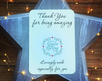 Thank you for amazing quote card with choice of charm madebygreenberry wish bracelet