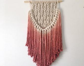 Terracotta Ombre Macrame Wall Hanging