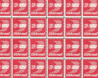 Red Stamps /10 Unused Stamps/Red Airmail Stamps