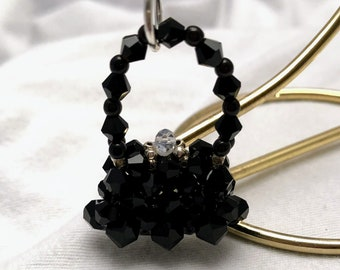 The Perfect Black Purse Charm FREE SHIPPING