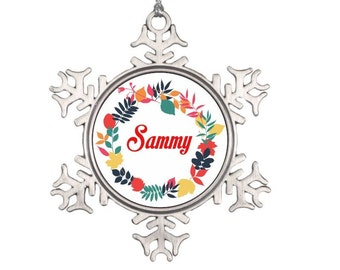 Custom Snowflake Name Ornament - Personalized Christmas Ornament - Christmas Ornament Gift for Him Gift for Her, Best Friend Christmas Gift