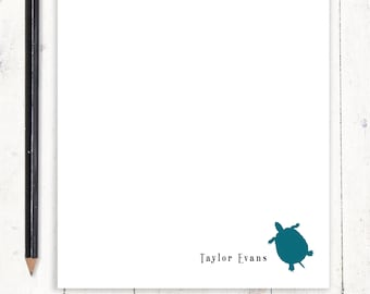 personalized notePAD - TURTLE - kids stationery - stationary - nature lover gift - boys notepad - girls notepad - choose color