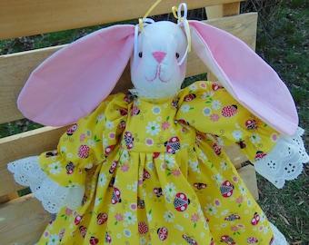 Lady the Stuffed Bunny Rabbit Doll