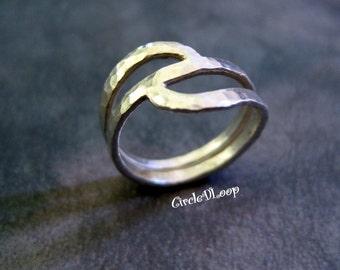 Textured Argentium silver ring