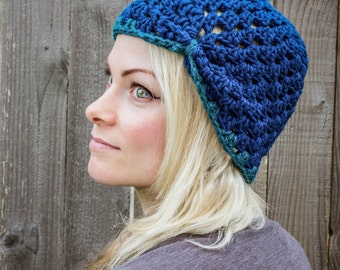 Oceanic Crochet Turban
