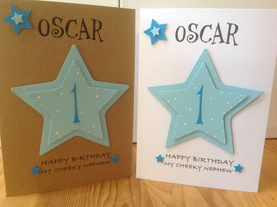 Handmade Personalised 1st Birthday Card Personalised With