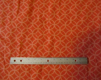 Orange Circles Flannel Fabric  by the Yard